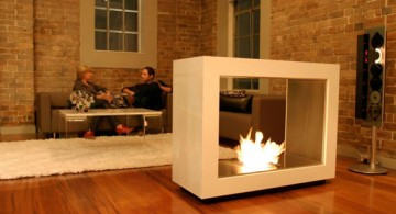 simple and modern freestanding fireplaces designs