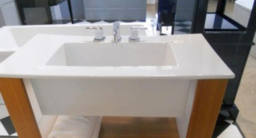 simple bare stand alone kitchen sink