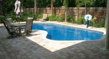 simple beautiful Backyard pool designs