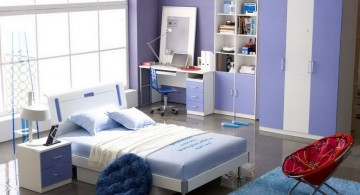 simple blue themed teenage girls room inspiration designs