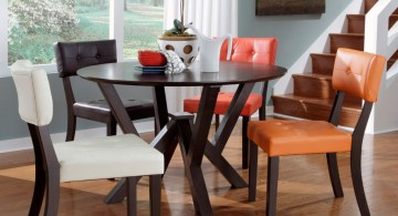 simple contemporary multi colored dining chairs