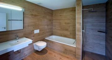 simple contemporary wooden bathroom designs