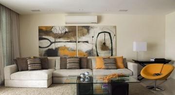 simple earth tone living room