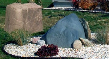 simple landscaping designs with big rocks
