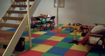 simple lighting ideas for basement as play ground