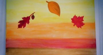 simple painting ideas canvas autumn themed