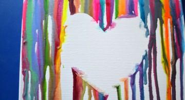 simple painting ideas canvas empty heart