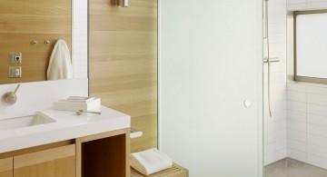 simple rustic wooden bathroom designs