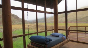 simple single size hanging swing bed