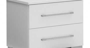 simple two drawers modern nightstands white