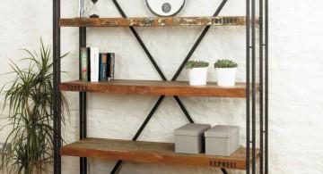 simple vintage industrial bookcase designs