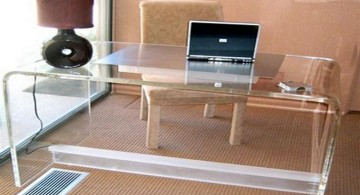 sleek Acrylic Computer Desk