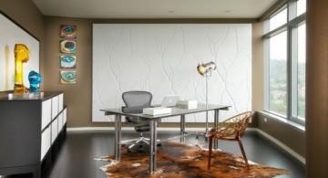sleek Acrylic Computer Desk with rug