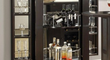 sleek and contemporary wine cabinet
