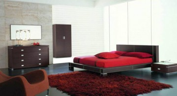 sleek black and red contemporary bedding ideas