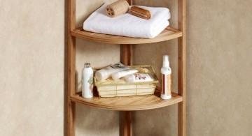 small and rustic corner shelf designs
