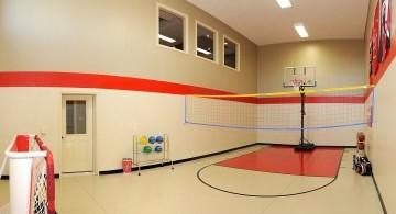 small ball gym indoor home basketball courts