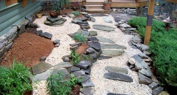 small japanese garden design ideas with stone pathway for small space
