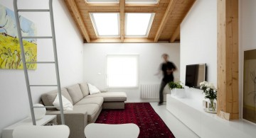 small living room with skylight ideas