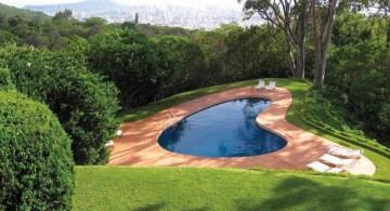 small pool on spacious back yard