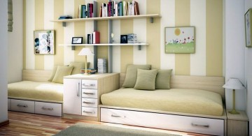 small sofa beds for small rooms in pastel colors