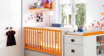 smart space saving modern nursery room design ideas