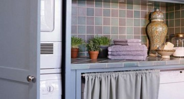 smart space usage small laundry room designs