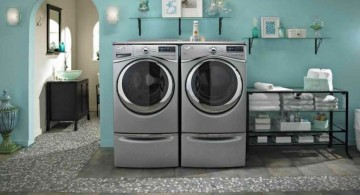 smart space use small laundry room storage solutions