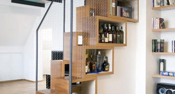 smart wooden staircase designs that also work as storage
