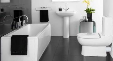 sophisticated black bathrooms ideas
