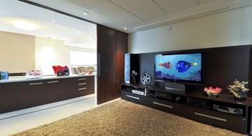 spacious entertainment room