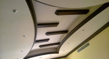 squeezed in and wood lined drop ceiling decorating ideas