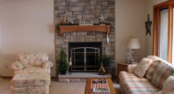 stack stone fireplaces for livingroom