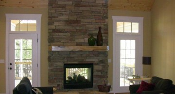 stack stone fireplaces for small space