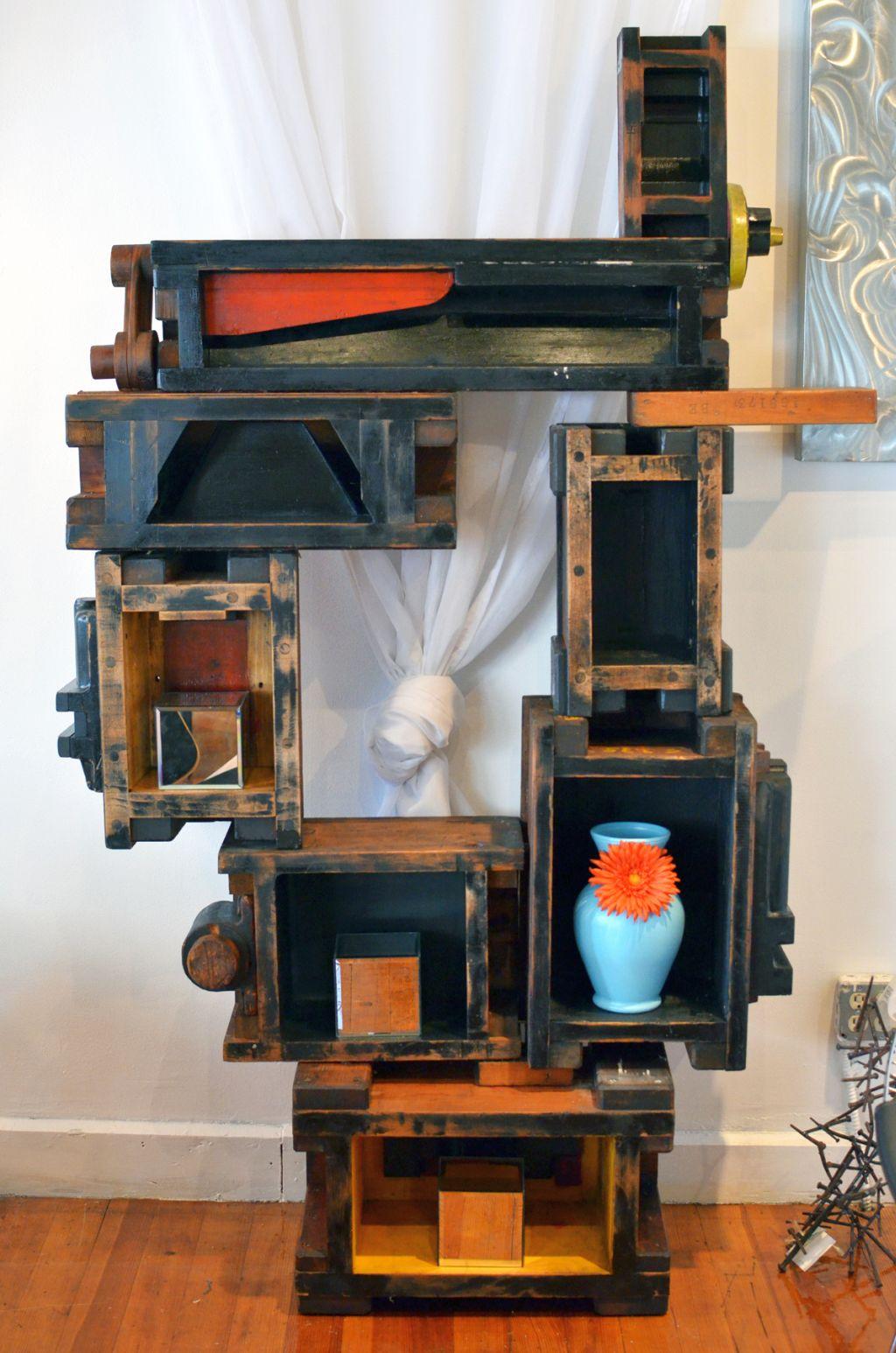 Steampunk Style Vintage Industrial Bookcase Designs