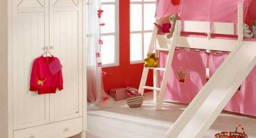 strawberry pink funky bunk beds