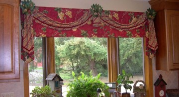 swag valance patterns for the kitchen