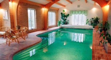 terracotta tiled indoor swimming pool designs