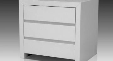 three shelved modern nightstands white