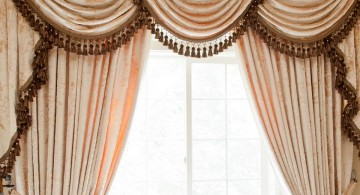 three swag valance patterns in pink