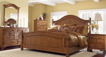 tuscan style bedroom furniture made from oakwood