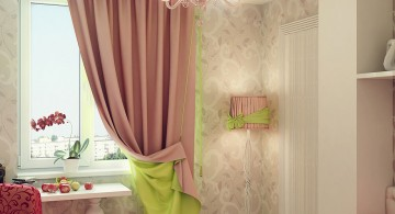 two toned teenage girl curtain designs for a small room