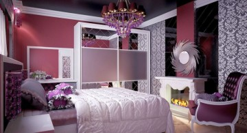 unique beds for girls with vintage chandelier