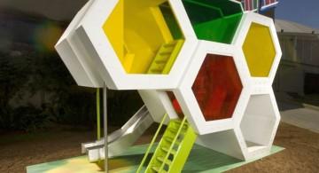 unique honeycomb luxury outdoor playhouse