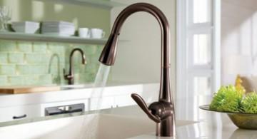 unique kitchen faucets in bronze