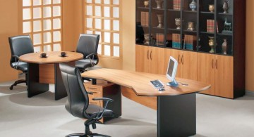 unique shaped desks for small office plans