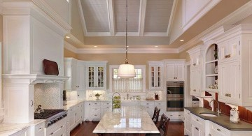 vaulted ceilings in white
