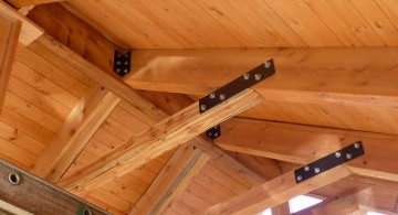 vaulted ceilings with crossed beams