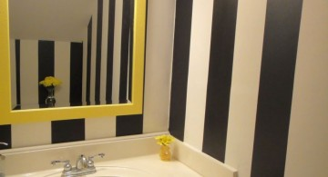 vertical stripes black bathrooms ideas