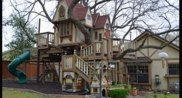 very amazing big treehouse luxury outdoor playhouse